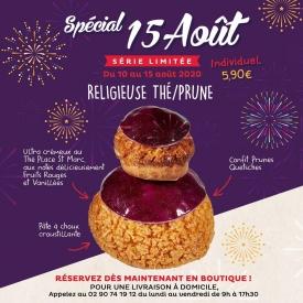 🎇 Spécial 15 Août ! 🎆  Au même titre que le 14 Juillet dernier, le 15 Août a droit à son gâteau d'événement en édition limitée 😃  ➡ Une savoureuse Religieuse à la prune et aux Fruits Rouges ✨😋  Pensez à réserver en appelant directement votre boutique préférée !  Également disponible en livraison à domicile à partir de 50 euros d'achat, en appelant le 02.90.74.19.12 du lundi au vendredi de 9h à 17h30 🚚🏡  #aupetitprince #auray #baud #carnac #etel #pluvigner #RelaisDesserts #yummy #miam #epv #Gourmandise #greedy #pastry #pastrylover #instafood #foodporn #pastrychef #Bretagne #morbihan #bzh